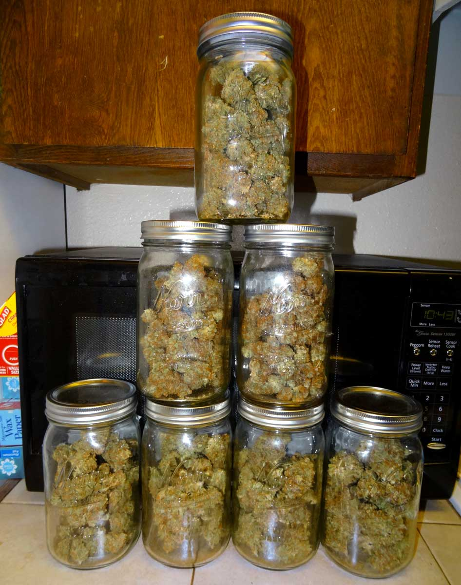 Ounce Of Weed Mason Jar Best Way to Store Weed...