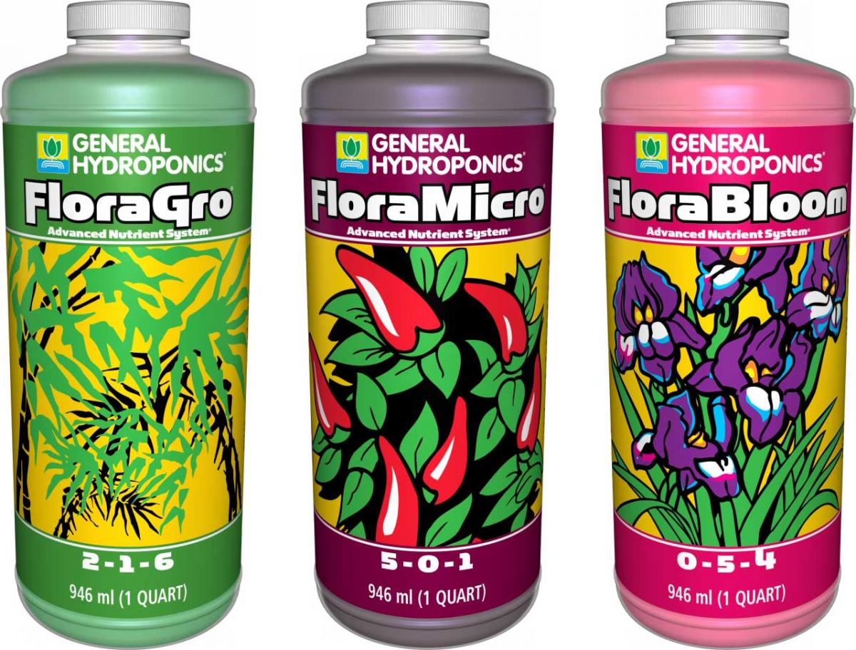 general hydroponics flora series is perfect for growing weed
