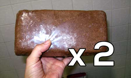 Two 650g coco coir bricks are needed for this tutorial