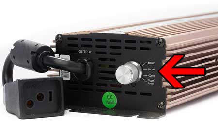 A dimmable ballast allows you to turn down the power on your grow lights