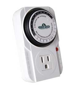 Get an electrical timer to set your grow lights on a schedule