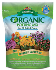 Organic potting soil mix - available on Amazon.com