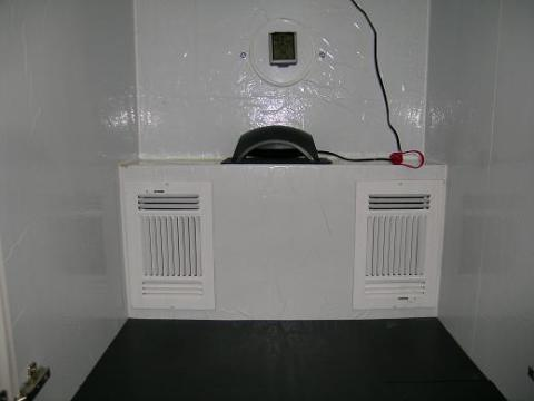 Front view of filter box