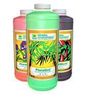 General Hydroponics Flora Series nutrients - some of the best nutrients for growing cannabis