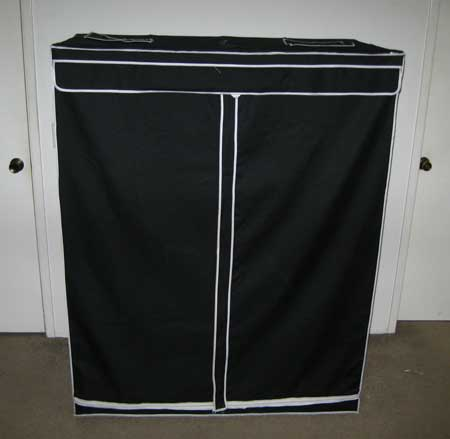 A 2'x4'x5' grow tent is great for a small grow light