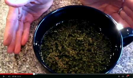 Step 3 - Add enough solvent to cover the cannabis material, plus about an extra inch