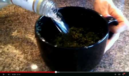 Step 5b - Repeat step 3, 4, and 5 again to wash the cannabis in alcohol a second time