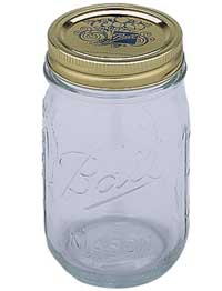Cannabis buds cure perfectly in a quart-sized mason jar