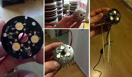 Upgrade your space bucket by wiring in a small LED grow light