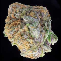 Example of a pretty cannabis nug on a black background