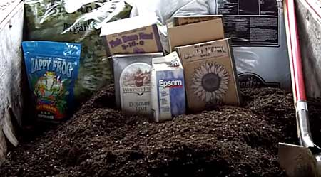 Here's the beginning or your composted super soil adventure with all the needed ingredients