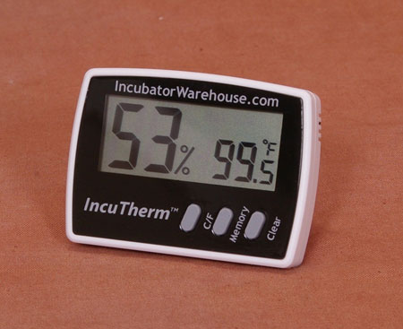 Thermometer and humidity monitor