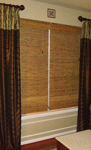 Example of wicker blinds in a living room
