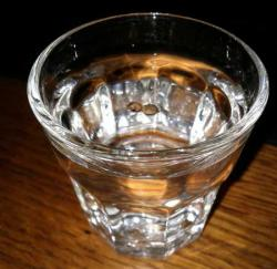 Place seeds in a glass (or in this case shot glass) of plain warm water