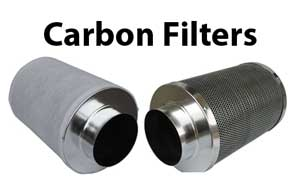 Carbon scrubbers (carbon filters) often come with a sleeve (left) to keep out dust, but underneath it usually looks like plain metal (right)