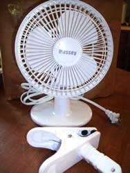 "Massey 6"" Clip Fan will help move air around your grow tent and keep stagnant air pockets from forming"