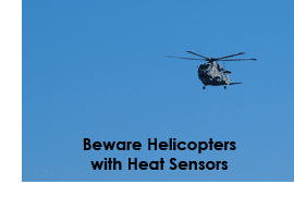 Helicopters can sense pockets of heat caused by light, so controlling heat it vitally important