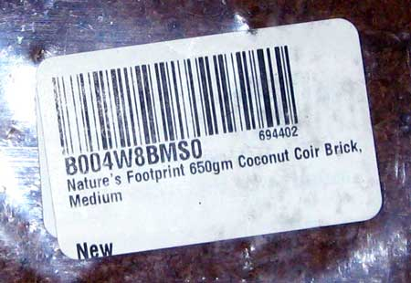 Nature's Footprint 650gm Coconut Coir Brick, Medium