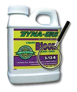Bloom nutrients provide a little N, a lot of K, and a good source of P