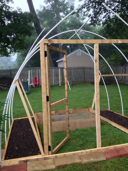 Cheap homemade greenhouse door