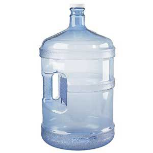 5 gallon jugs are often used for refilling reverse osmosis from a water station