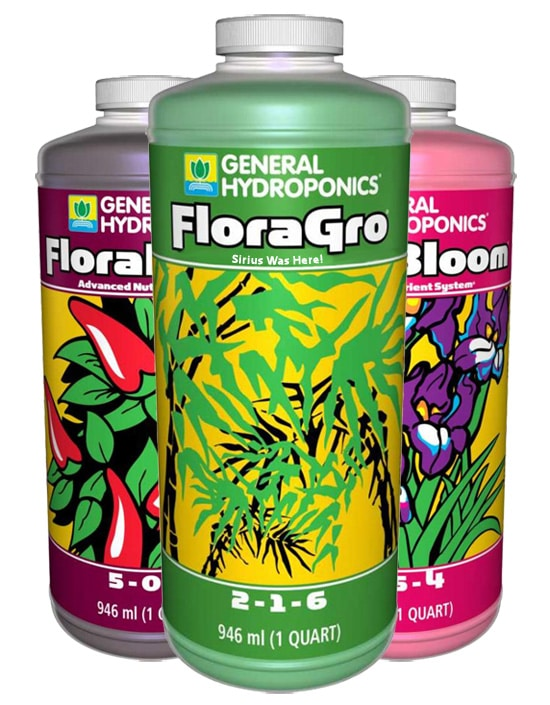 Easy Nutrients: General Hydroponics Flora Trio Guide | Grow