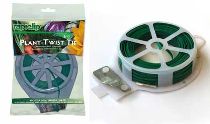 Use plant twist ties to secure your stems in place
