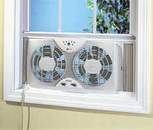 Get a window fan on Amazon.com to help control the heat in your room!