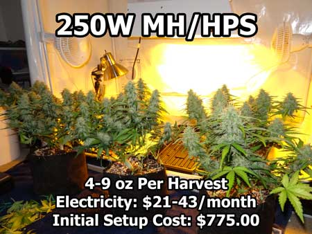 250W HPS grow lights