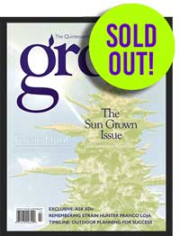 "Example of the ""Grow Magazine - The Quintessential Cannabis Horticulture Magazine"" from March/April 2017 called ""The Sun Grown Issue"""