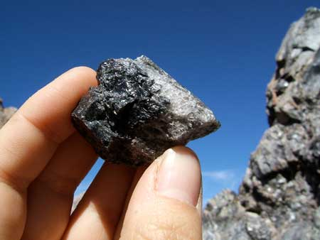 Example of obsidian from Panum Crater