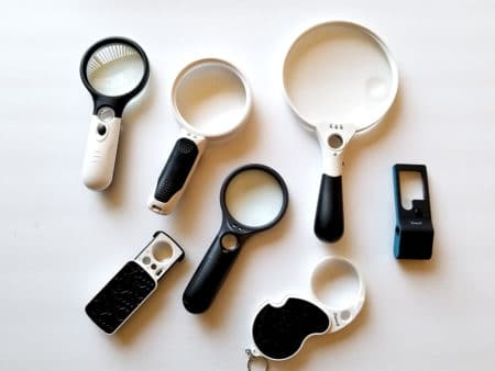 A group of handheld magnifiers
