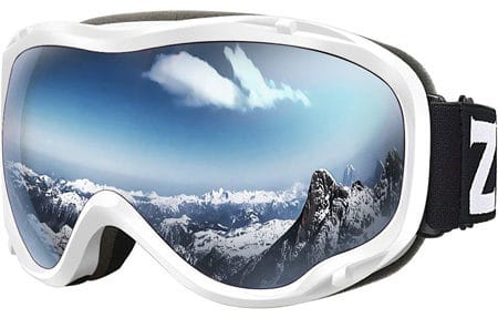 Snowboarding goggles for protection from a bright grow light