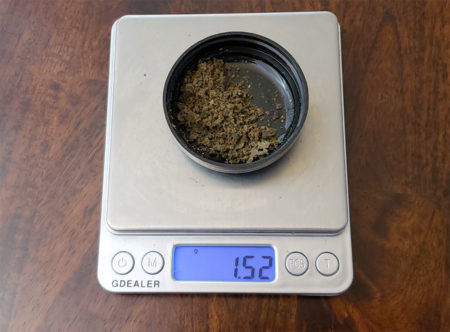 Weighing 160 micron Bubble Hash