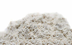 Closeup on a pile of diatomaceous earth