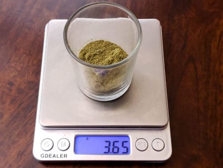 Dry-Ice Hash being weighed in