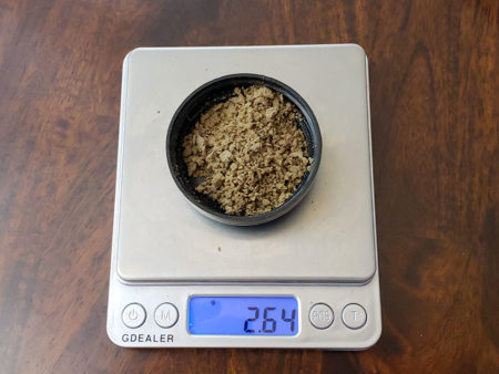 Bubble Hash on a scale