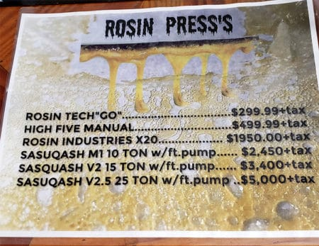 If you want a good rosin press, be prepared to pay, pay, PAY!