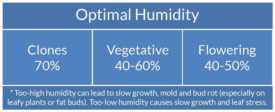 Cannabis humidity chart