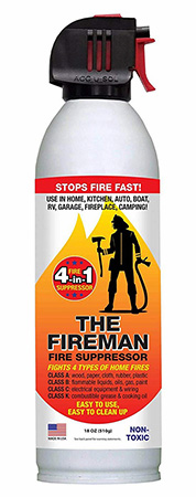 """The Fireman"" aerosol fire suppressor"