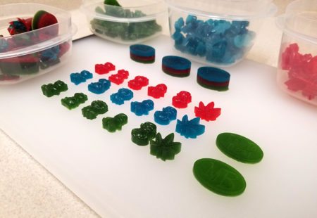 A cannabis gummy lineup. They're all guilty...of being awesome!