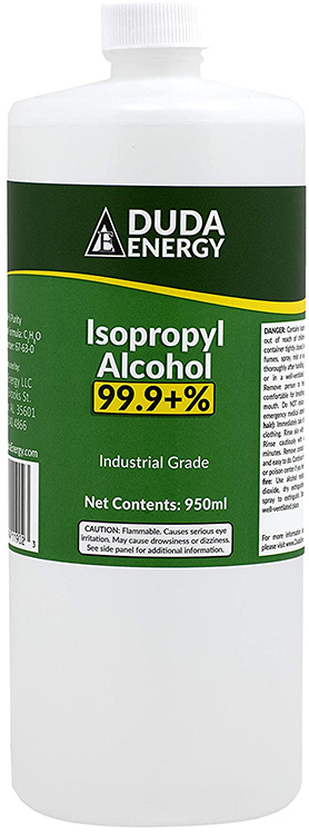 Isopropyl Alcohol, also known as rubbing alcohol